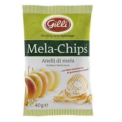 Gilli Apfelchips Golden Delicious - knusprige Apfelringe aus Südtirol, 40g