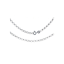 Bella Carina Silberkette Silberkette Gliederkette rund 1,8 mm 925 Silber, 925 Silber 90 cm