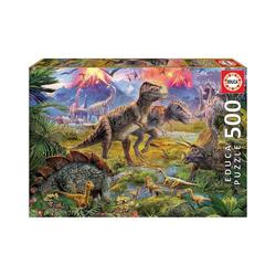 Educa Puzzle Puzzle Dinosaur Gathering, 500 Teile, Puzzleteile