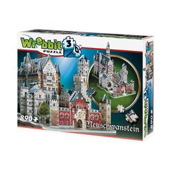 Wrebbit 3D-Puzzle Wrebbit 3D Puzzle 890 Teile Schloss Neuschwanstein, Puzzleteile