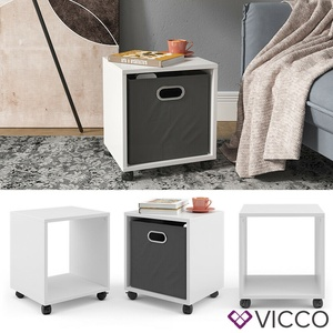 Vicco Rollcontainer für Faltbox Bürocontainer Aktenregal Büroregal Aktenschrank
