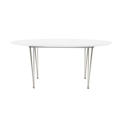 ebuy24 Esstisch Esstisch Belle Länge 170 cm oder 270 cm, weisslack