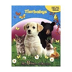 Tierbabys, Spielbuch + 8-10 Spielfiguren + Spielmatte
