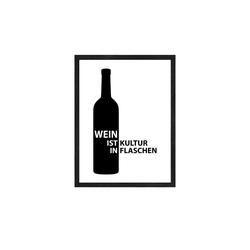 Gerahmtes Bild Slim-Scandic  Wein Slogan