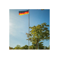 ONVAYA Fahne ONVAYA® Fahnenmast Aluminium / Stahl, 620 cm, Flaggenmast, Zylindrische Form, + Bodenhülse + Seilzug + Fahne, Ø 50 mm silberfarben