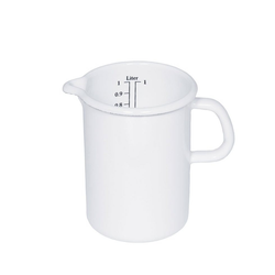 Riess Messbecher Riess Küchenmaß 9cm,0.5L, Emaille