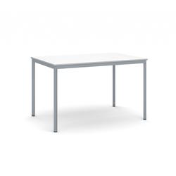 Esstisch, 1200 x 800 mm weiße platte, dunkelgrauer boden