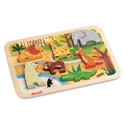 Janod® Chunky Holzfiguren-Puzzle - Zoo, 7 Teile