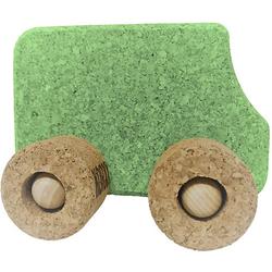 Spielzeugauto Kork Bus, grün