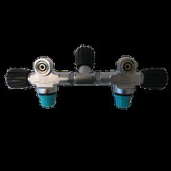 Doppelventil für 7L 230 bar mit absperrbarer Brücke