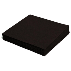 Servietten 33 x 33 cm 1/4 -Falz, 2-lagig schwarz,  50 Stk.