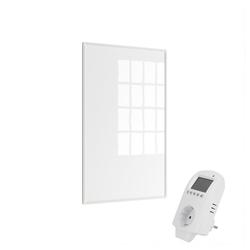 Eldstad Infrarotheizung Eldstad Heizpaneel Infrarot Heizkörper Elektro Heizung 600 W mit Thermostat