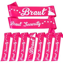 Schärpe Braut + Braut Security Schärpen Set JGA Hen Party Bride to be pink