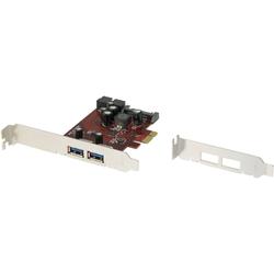 Renkforce 2+1 Port USB 3.0 PCI-Express Controller-Karte Speicherkarte