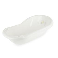 Baby Badewanne 0-12M Babywanne mit Stöpsel 84 cm Mobile Badewanne Baden Bath Tub Babybadewannen weiß