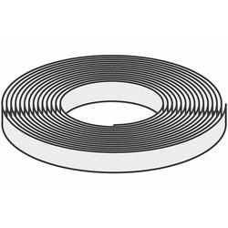 WOLF Kompriband 15 x 4-9 mm - schwarz - Rolle 8 m