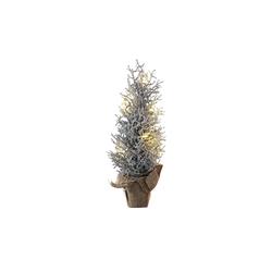 Casa Nova Weihnachtsbaum in silber mit 7 LEDs, 46 cm