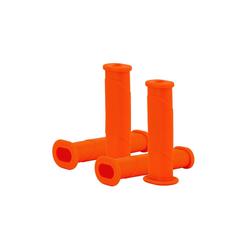 BigDean Schubkarre 4x Schubkarrengriffe Oval 35mm Kunststoff Karrengriff Schiebkarre Sackkarre orange
