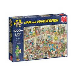 Jumbo Spiele Puzzle 19092 Jan van Haasteren Die Bibliothek, 1000 Puzzleteile
