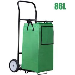COSTWAY Einkaufstrolley 86L Einkaufswagen mit Abnehmbarer Einkaufstasche, 86 l