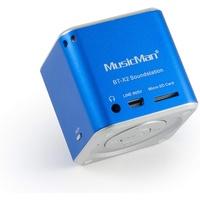 Technaxx MusicMan Mini Wireless Soundstation BT-X2 blau