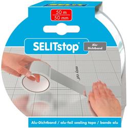 Selit Dichtband SELITstop Aludichtband 50 m, ideal für Stöße und Fugen