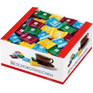 Ritter-Sport Minischokolade Quadretties Bunter Mix, Vorratsbox, sortiert, 200 Stück
