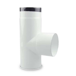 Ø 120 mm Ofenrohr Kapselknie emailliert Weiß