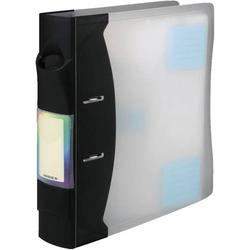 Hama CD/DVD Ordner 120 CDs/DVDs/Blu-rays Kunststoff Transparent, Graphit 20 St. (B x H x T) 73 x 315