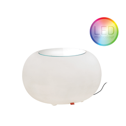 Bubble LED Accu Outdoor mit Filzkissen rot