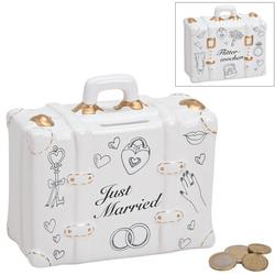 matches21 HOME & HOBBY Spardose Spardose Koffer Hochzeit Hochzeitsgeschenk Geldgeschenk Sparbüchse