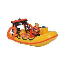 SIMBA Spielzeug-Auto Feuerwehrmann Sam - Neptune, Boot mit Figur