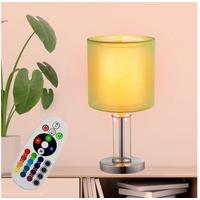 ETC Shop Tisch Lampe Wohn Zimmer Nacht-Licht Glas Lese Leuchte FERNBEDIENUNG im Set inkl. RGB LED Leuchtmittel