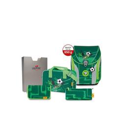 DerDieDas® Schulranzen Ergoflex Max Schulranzen Set 5tlg. 39 cm grün