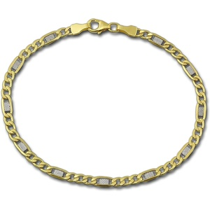 GoldDream Goldarmband D2GDA0129T GoldDream 8 Karat Armband 19cm Damen, Echtgold Armband (Panzer) ca. 19cm, Gold, 333er Gelbgold und Weißgold - 8 Karat