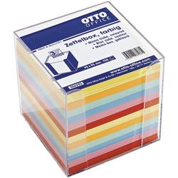Zettelbox mit farbigem Papier, OTTO Office, 9.5x9.5x9.5 cm