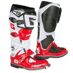 Gaerne Motocross-Stiefel SG 12 Weiß/Rot