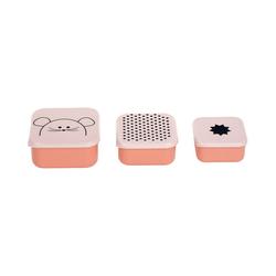 Lässig Brotschale Brotdose Kätzchen, weiß rosa
