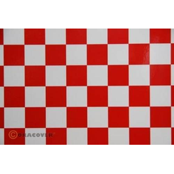 Oracover 47-010-023-002 Klebefolie Orastick Fun 3 (L x B) 2m x 60cm Weiß, Rot
