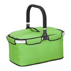 relaxdays Einkaufskorb   Kunstfaser grün