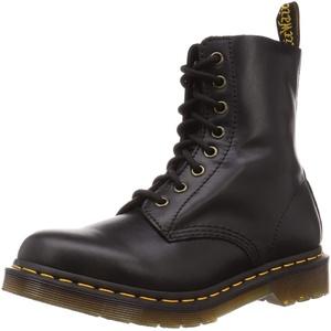 Dr. Martens Damen Combat Boot, Schwarz (Black Wanama), 40 EU