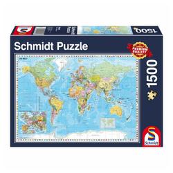 Schmidt Spiele Puzzle Weltkarte Die Welt, 1500 Puzzleteile