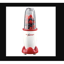 GOURMETmaxx Standmixer, 400 W, Mr. Magic 4-teilig rot/weiß