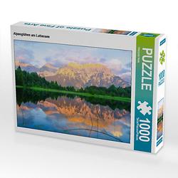 Alpenglühen am Luttensee Lege-Größe 64 x 48 cm Foto-Puzzle Bild von Hiacynta Hess Puzzle
