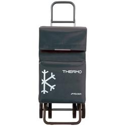 Rolser Einkaufstrolley Dos+2 Thermo Fresh, 54 l, mit Thermofach, 4 Rollen grau