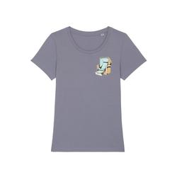 wat? Apparel Print-Shirt Strandkorb lila XL