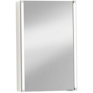 Fackelmann LED Spiegelschrank Badmöbel Weiß 2 LED Leuchtsäulen breite 42,5 cm