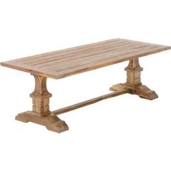 CLP Rustikaler Teaktisch I Rechteckiger Tisch aus Teakholz I Handgefertigter Holztisch I In verschiedenen Größen erhältlich