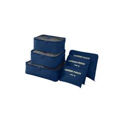 Sross Kofferorganizer Kofferorganizer Organizer Reise Aufbewahrungstasche (6-tlg) blau