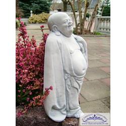 S101065 Gartenfigur kleiner lachender Buddha Steinfigur 28cm (Material: Silikonform)